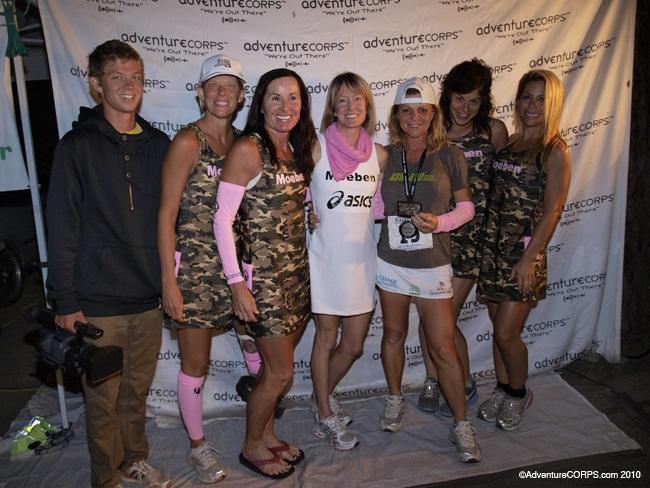Shannon Farar-Griefer (third from left) after running the Badwater Death Valley race in 2010.